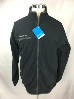 Columbia Men's MEDIUM Black Fleece Jacket Mountain Crest Ful