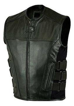 men s motorcycle black swat premium leather