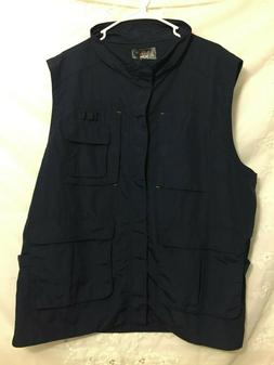 H2H Men's Navy Vest Size 3XL 4 Pockets