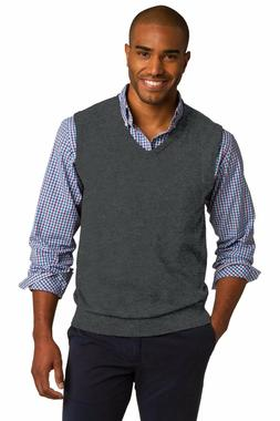 Port Authority Men's New Dressy V Neck Sweater Winter Vest.