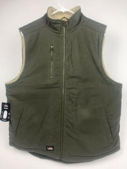 Dickies Men's NWT Faux-Fur Lined Relaxed Fit VEST Olive Gree