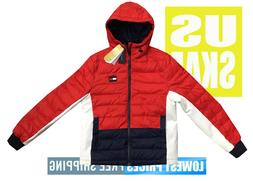 Tommy Hilfiger Men's NWT Navy Red Blue Quilted Puffer Jacket