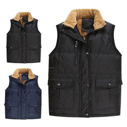 Men's Outerwear Coats Fleece Liner Vest Men Pocket Sleeveles