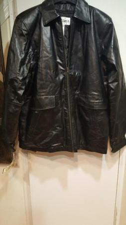 Men's Outerwear Winter zip-liner out 100% Leather Black Jack