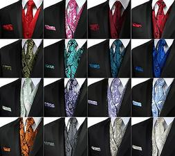 Men's Paisley Tuxedo Vest, Tie and Hankie. Formal, Dress, We
