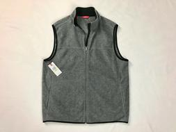 "Men's IZOD Polar Fleece Vest M 44"" Chest Gray Full Zip Pocke"