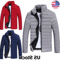 Men's Puffer Bubble Down Coat Jacket Lightweight Quilted Pad