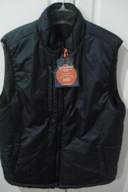 Weatherproof Vintage Men's Puffer Vest Reversible Gray Plaid