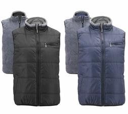 Maximos Men's Reversible Sherpa Lined Zipper Quilt Puffer Ut