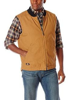 Dickies Men's Sanded Duck Insulated Vest, Brown Duck, Large