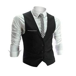 Zicac Men's Top Designed Casual Slim Fit Skinny dress Vest W