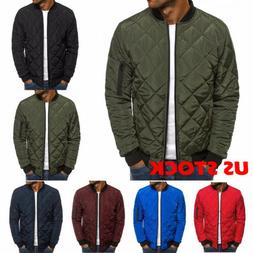 Men's Ultralight Jacket Puffer Bubble Down Coat Bomber Quilt