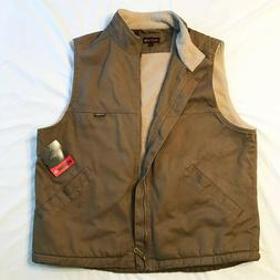Wolverine Men's Vest Tan/Brown Sherpa Lined - New With Tags