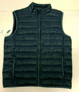 Old Navy Men's Vest XXL BLACK Packable Narrow Channel Puffer