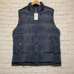 Vcansion Men's Winter Warm Puffer Vest Quilted Sleeveless Bl