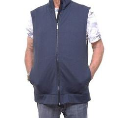 Perry Ellis Men's Zip-Front Textured Vest Size L