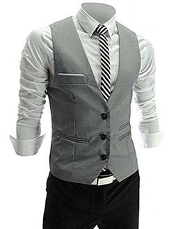 MARIR Men Vests Jacket Classic Style Slim Fit Business Waist