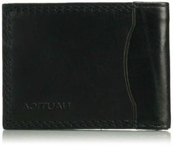 Nautica Mens Accessories Rfid Blocking 100% Leather Slim Pas