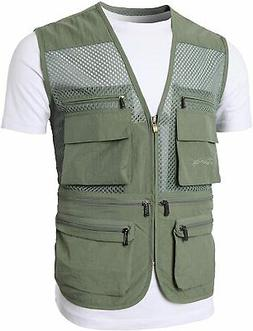H2H Mens Active Work Utility Hunting Travels Sports Mesh Ves