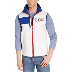 Tommy Hilfiger Mens Ashby White Printed Sailing Outerwear Ve