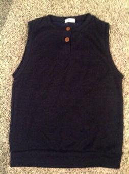 H2H Mens Casual Knitted Sweater Cool 2 Buttons Henley Vest N