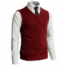 H2H Mens Casual Slim Fit Knit Vest with Soft Warm Fabric, RE