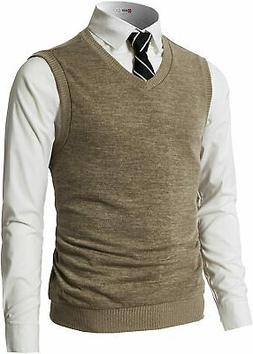 H2H Mens Casual Slim Fit Pullover Sweaters Vest Lightweight