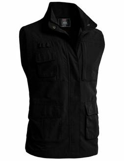 H2H Mens Casual Work Utility Hunting Travels Sports Vest wit