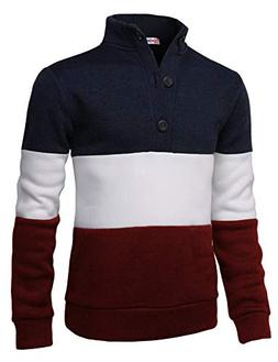 H2H Mens Fashion Knitted Slim Fit Pullover Sweaters Color Bl