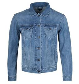 Mens Edwin Kingston Blue Denim Jacket with Chest Pockets Fre