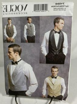 Mens Lined Vest Variations PATTERN Timeless Formal Vogue 748
