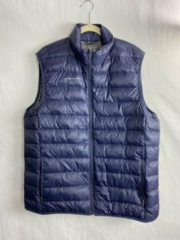 Eddie Bauer Mens Microlight Down Vest Navy Blue Zip Up 650 F