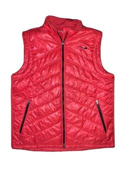 MENS NEW NIKE GOLF RED PUFFER VEST! XL