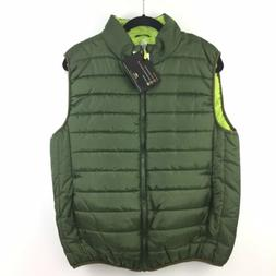 Pacific Trail Mens Puffer Vest Size Medium Green & Lime New