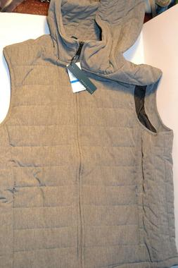 Perry Ellis Mens Quilted Full Zip Hooded Vest Size XL MRSP $