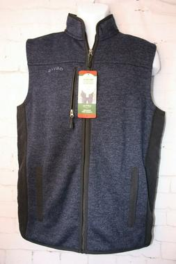 Orvis Mens Sweater Fleece Vest Size Medium Navy Black Access