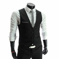 Zicac Men's Top Designed Casual Slim Fit Skinny Dress Vest