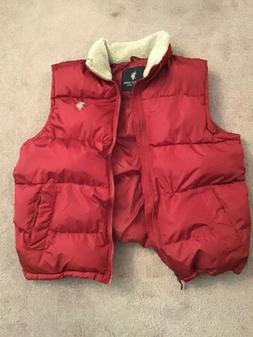 Mens U.S. POLO ASSN.  Puffer Vest Jacket Red size Large Slee