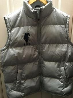 Mens U.S. POLO ASSN.  Puffer Vest Jacket  Gray Size Medium N