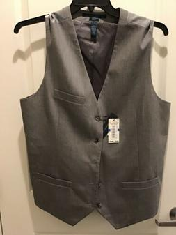 Perry Ellis Mens Vest Brushed Nickel Big and Tall Five-Butto