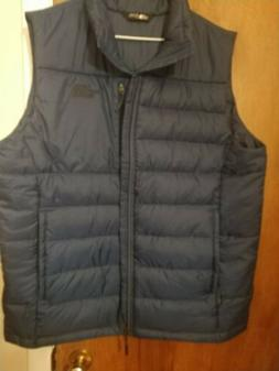 The North Face Mens Vest in blue- 550 Fill Down -SIze, L