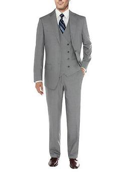 Salvatore Exte Mens Vested Suit 3 Piece 2 Button Blazer Vest