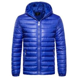 Mens Winter Jackets With Hood Outerwear Clearance Slim Fit C