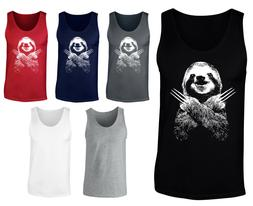 Mens Wolversloth Wolverine Sloth Funny Vest Tank Top