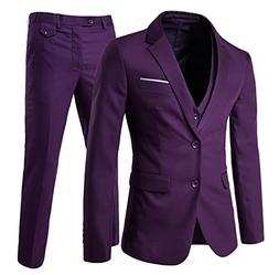 Men's Modern Fit 3-Piece Suit Blazer Jacket Tux Vest & Trous