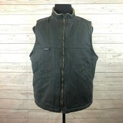 NEW Wolverine Black Cotton Canvas Vest Sherpa Lined Mens Lar