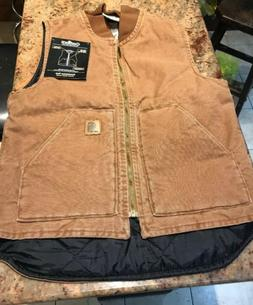 new brown duck insulated vest men small