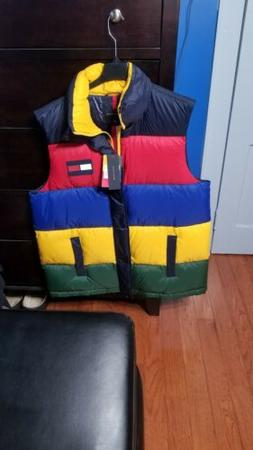 New Tommy Hilfiger Down Vest 60/40 Feather Puffer COLOR BLOC