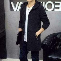 New Fashion Men's Slim Hooded jackets Tops Casual coat outer