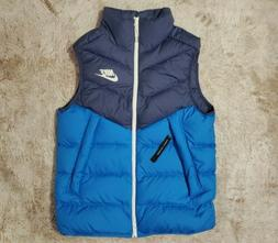 New  Nike Sportswear Blue Windrunner Down Fill Vest
